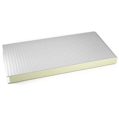 壁用合板パネル / 2面アルミニウム製 / スチール面 / ポリウレタン製芯