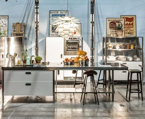 現代式アイランドキッチン