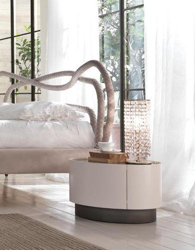 コンテンポラリーベッドテーブル / 木製 / 鉄製 / 円形