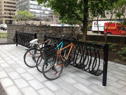 アルミ製自転車ラック / 公共スペース用