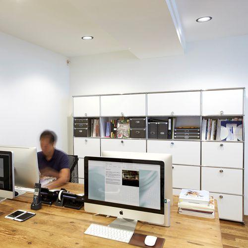 ハイオフィス戸棚 / MDF / 引き出し / モジュール式