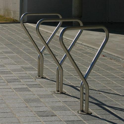 ステンレススチール製自転車ラック / 公共スペース用