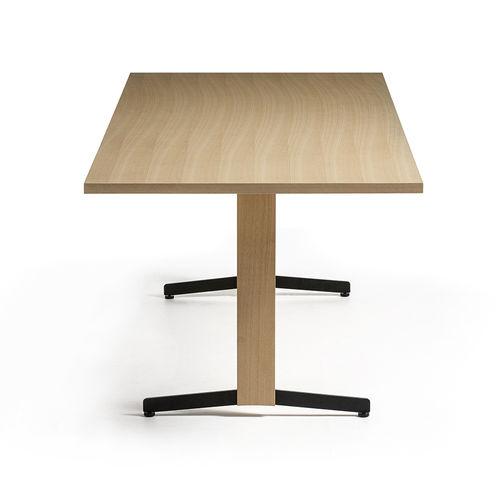 コンテンポラリー会議用テーブル / 木製プレート製 / 被覆鋼粉 / 長方形
