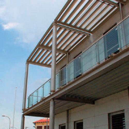 アルミ製日射遮蔽 / 屋根用 / シェルター用 / 横型