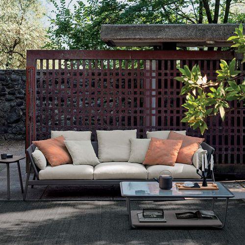 屋外用ソファー / コンテンポラリー / アルミ製 / 塗装金属製