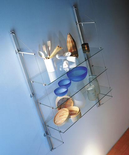 壁取り付け式棚 / コンテンポラリー / ガラス製