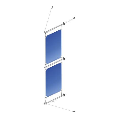 壁掛け式看板 / ステンレススチール / 屋内用