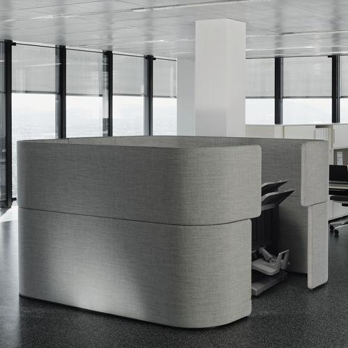 スタンド式オフィス用間仕切り / 吸音ファブリック製 / 防音