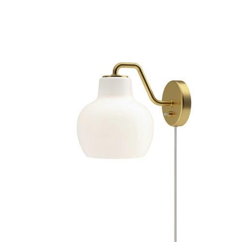 コンテンポラリー壁面ライト / ポリッシュ真鍮製 / 吹きガラス製 / LED