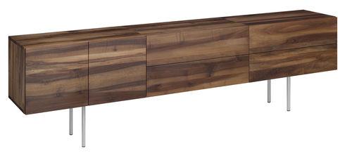 コンテンポラリーサイドボード / 漆木材 / オーク材 / クルミ材