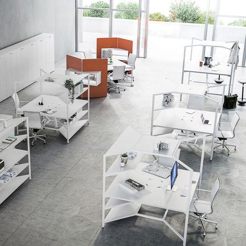 コンテンポラリーワークテーブル / ラミネート状 / 四角形 / 業務用