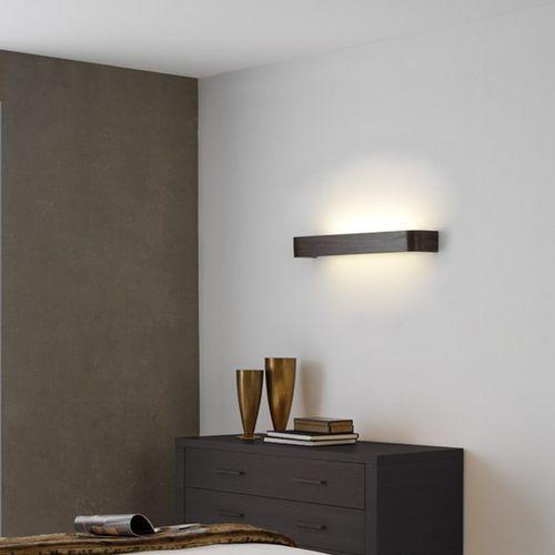 コンテンポラリー壁面ライト / ガラス製 / 木製 / LED