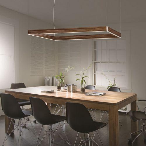 吊り下げライト / コンテンポラリー / アルミ製 / 木製