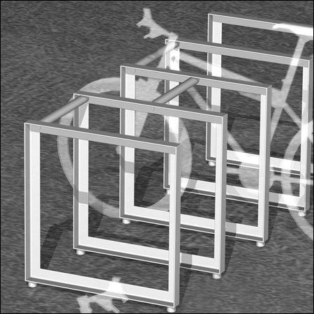 ステンレススチール製自転車ラック / 業務用 / セキュリティ