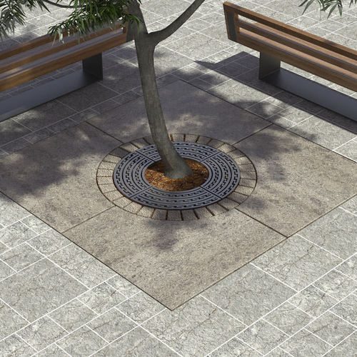 亜鉛めっき鋼製樹木保護柵 / 円形
