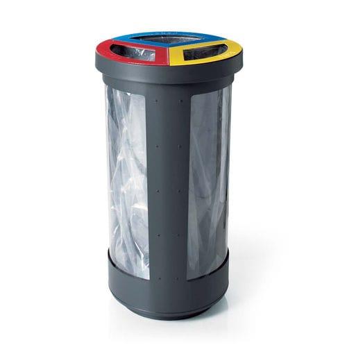 公共ゴミ箱 / 亜鉛めっき鋼製 / コンテンポラリー / リサイクル