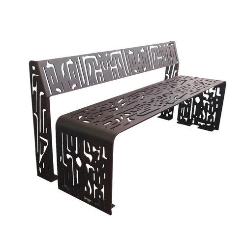 公共ベンチ / オリジナルデザイン / 亜鉛めっき鋼製 / コールテン鋼製