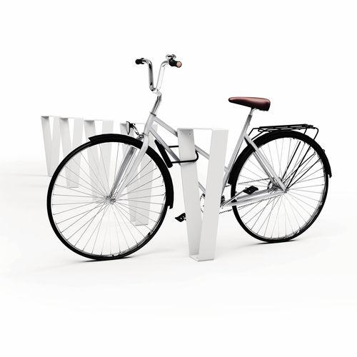 亜鉛めっき鋼製バイクラック / ステンレススチール製 / オリジナルデザイン / 公共スペース用