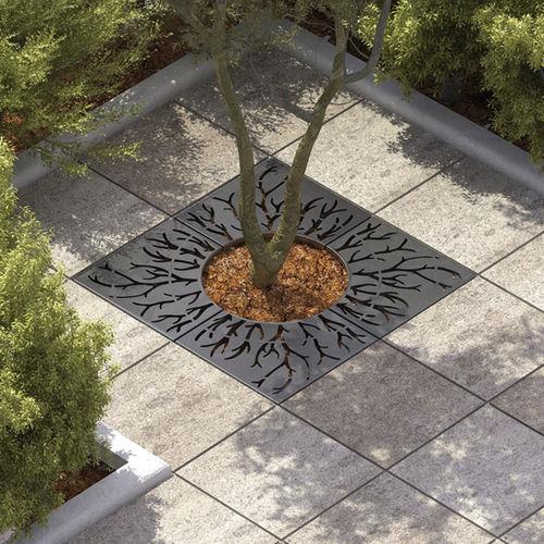 亜鉛めっき鋼製樹木保護柵 / 四角形