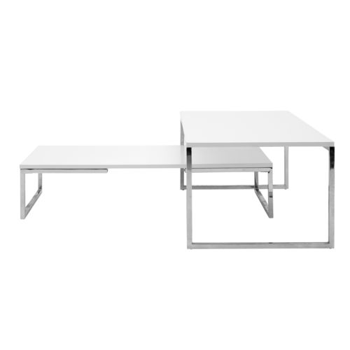 コンテンポラリーコーヒーテーブル / スチール製 / 長方形 / 四角形