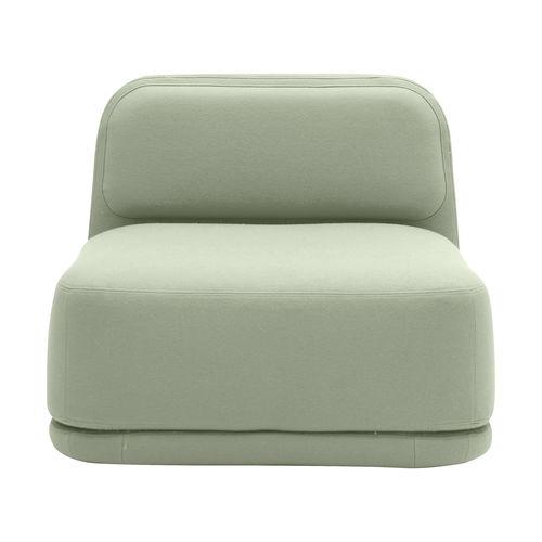コンテンポラリー安楽椅子 / 布製 / 取り外し可能コーティング付 / タブレット式