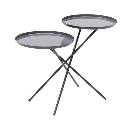 コンテンポラリーサイドテーブル / 金属製 / 円形 / コントラクト