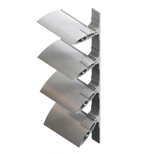 アルミ製日射遮蔽 / 建物の正面用 / 方向調節可能 / モーター式