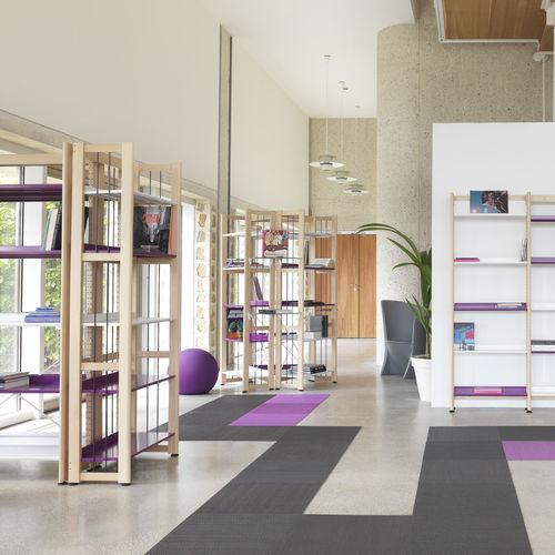 マルチメディアライブラリ-整理棚 / 図書館用 / 軽量積載用 / 木製