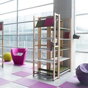 コンテンポラリー棚 / 木製 / 図書館用 / 業務用