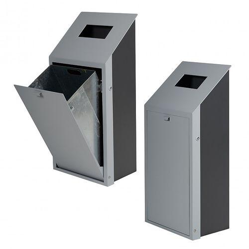 公共ゴミ箱 / 亜鉛めっき鋼製 / コンテンポラリー / 80L
