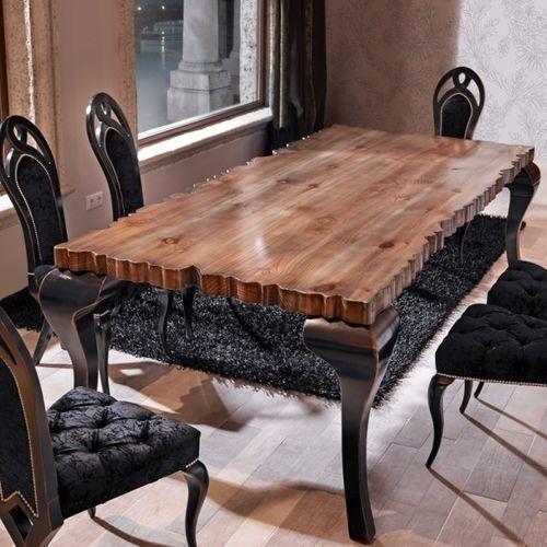 クラシック食卓テーブル / 木製 / 木製 / 長方形