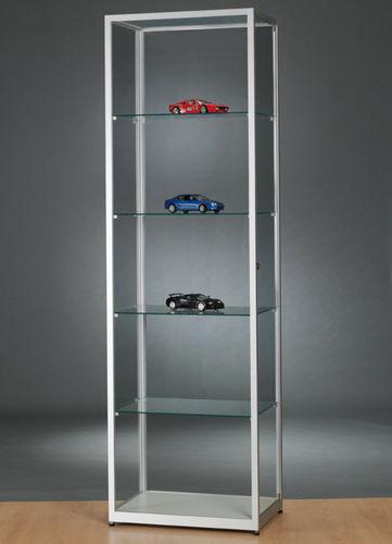 コンテンポラリー展示ケース / ガラス製 / 木製 / 陽極酸化アルミ製
