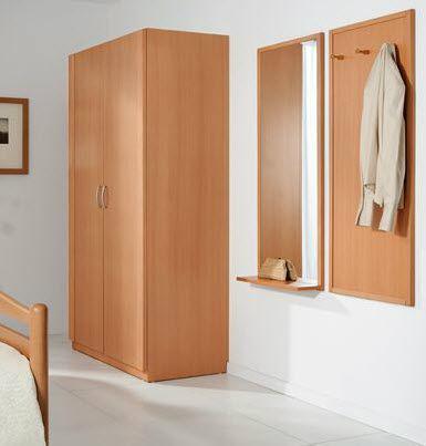 コンテンポラリー洋服だんす / 木製 / スイング式ドア / 医療施設用