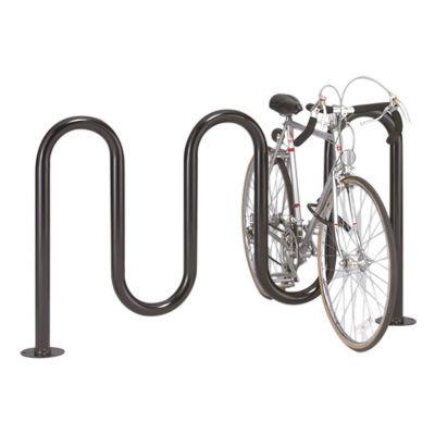 スチール製自転車ラック / ステンレススチール製 / 公共スペース用