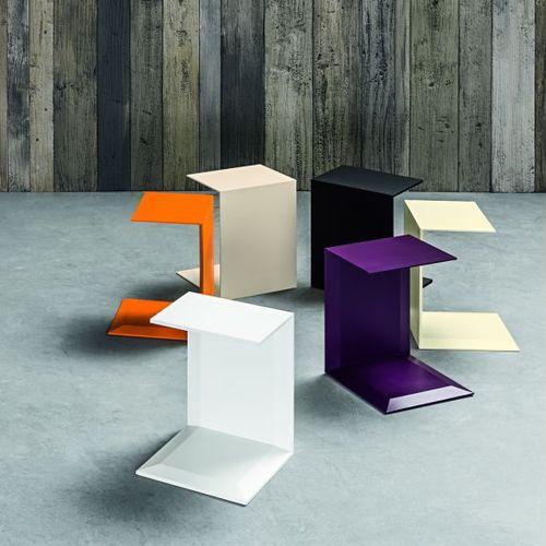 コンテンポラリーベッドテーブル / 漆塗りを施したメタル製 / 長方形 / 白