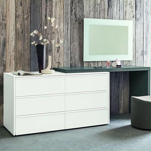 コンテンポラリーサイドボードテーブル / 漆木材 / 長方形 / 緑