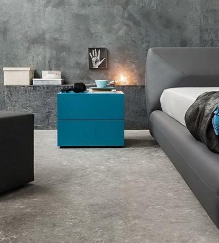 コンテンポラリーベッドテーブル / 漆木材 / 長方形 / 緑