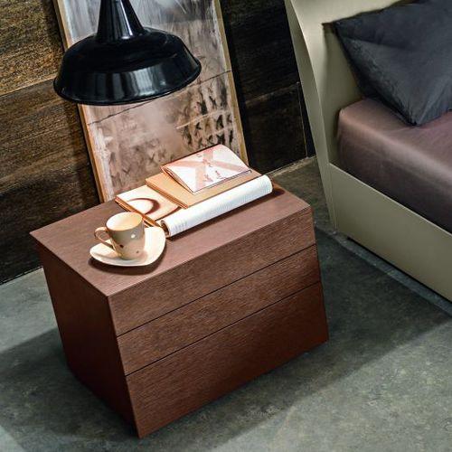 コンテンポラリーベッドテーブル / オーク材 / 長方形 / 引き出し付き