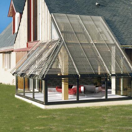 アルミ製日射遮蔽 / 屋根用 / ベランダ用 / 方向調節可能