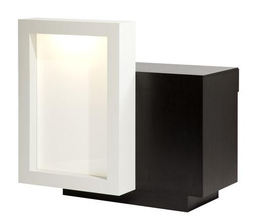 木製受付カウンター / 照明付き / 美容院