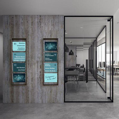 壁掛け式展示用ラック / アルミ製 / ホテル用 / オフィス用