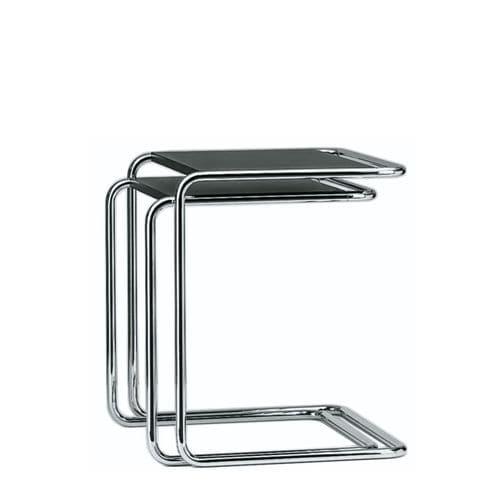 コンテンポラリーネストテーブル / 木製 / ガラス製 / 金属製