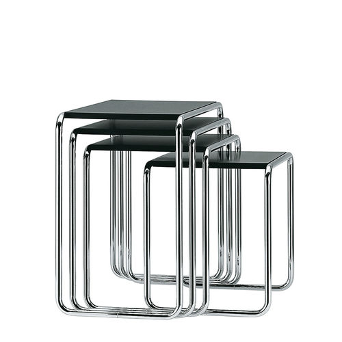 Bauhaus 作ネストテーブル / 木製 / ガラス製 / 金属製