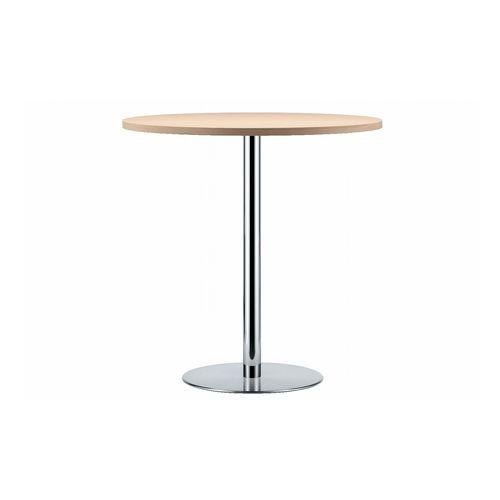 コンテンポラリーバーテーブル / 木製 / ラミネート状 / ステンレススチール製