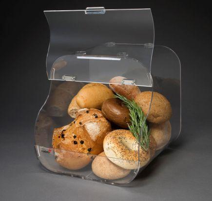 カウンタートップ展示用ラック / パン用 / 木製 / カーブ