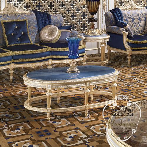 クラシックコーヒーテーブル / ソリッド ウッド製 / 無垢木材製 / 円形