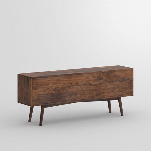 オリジナルデザインサイドボード / オーク材 / クルミ材 / ソリッド ウッド製
