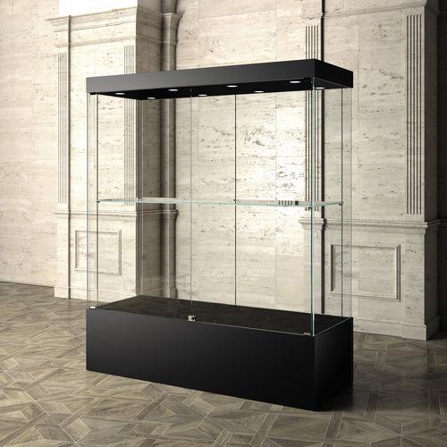 コンテンポラリー展示ケース / ガラス製 / キャスター付き / 美術館