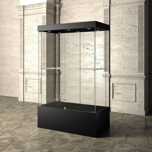 コンテンポラリー展示ケース / スタンド式 / ガラス製 / 美術館