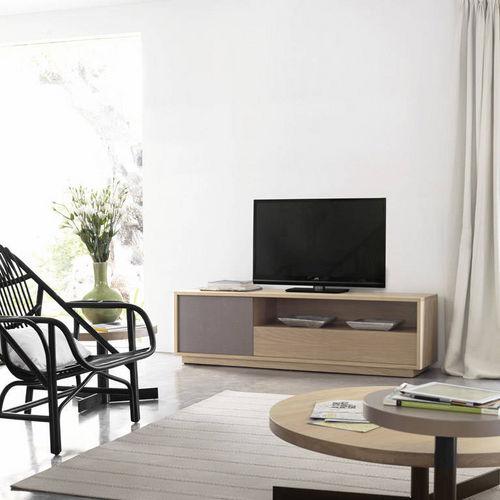 コンテンポラリーテレビキャビネット / 漆木材 / オーク材 / ソリッド ウッド製